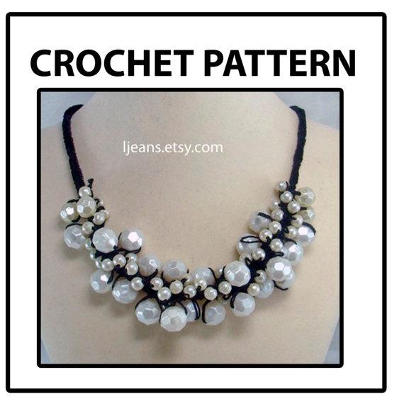 Scrunched Crochet Necklace Pattern by ljeans