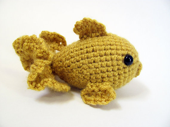 Crochet PATTERN PDF - Amigurumi Goldfish - amigurumi pattern, crochet pattern, cute crochet fish, amigurumi animal, goldfish plush, softie by MevvSan