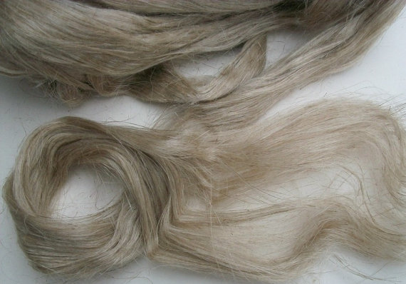 100% wild organic linen / flax fiber. Natural color flax fiber. Belorussian jewel. by Lusy