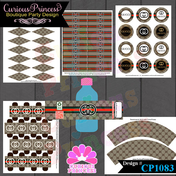 couture inspired birthday party theme decorations supplies inspired DIGITAL FILES by curiousprincess