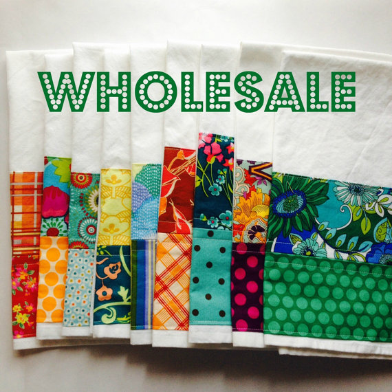 Wholesale – 12 Kitchen Towels – domestically made of 100% cotton flour sack tea towels – Made to order by anabelfuzz