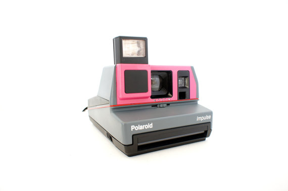 Custom Pink Polaroid Camera Impulse 600 - Film Tested Working by ForgottenCharm