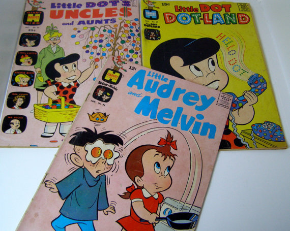 1950s Comic Books-Casper-Little Audrey + Melvin-Flintstones + Wendy the Witch-Donald Duck-Archies Pep-Little Dot-Woody Woodpecker by VintageSewandSew