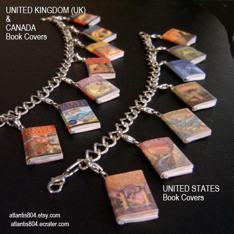 Harry Potter Mini Book Charm bracelet (etsy) -UK or USA version by atlantis804