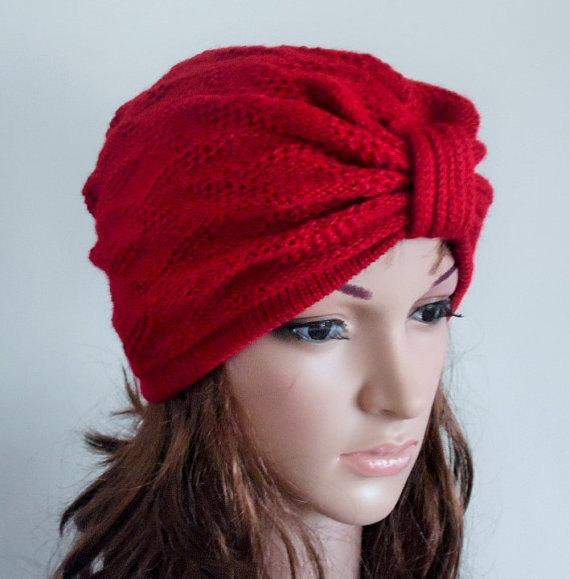 08c07df71bd Red Women s Turban Hat