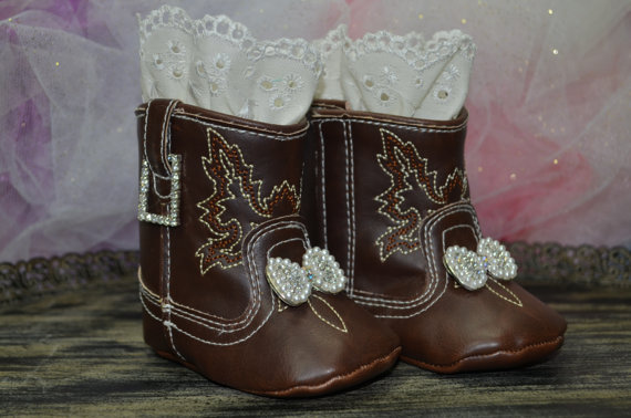Soft Sole Baby Girl Cowgirl Boots ... Baby Shoes ... Baby Girl Boots ... Photography Props ... Lace Boots ... Cowgirl Boots ... Pre Walkers ... Boots by ThatUniqueBowtique