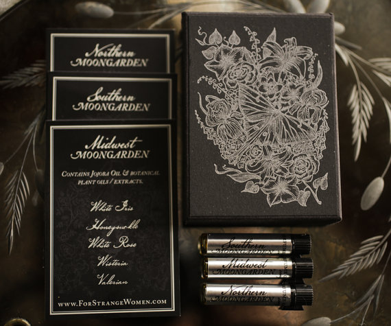 Moongarden perfume sample set by ForStrangeWomen