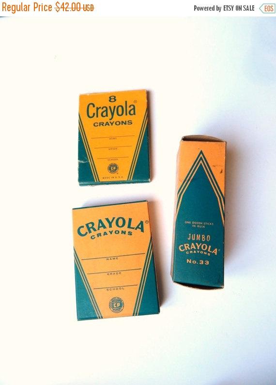 ON SALE Vintage Crayola – Vintage Crayons – NOS Crayola – Original Box Crayons – Back to School by Sugarcookielady