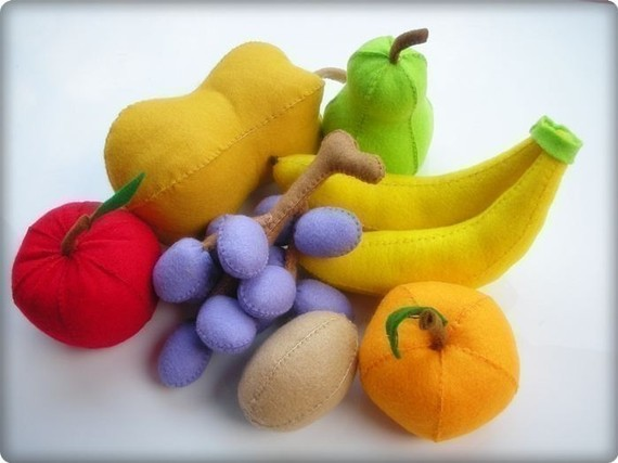 Happy Fruits PDF Felt Sewing Pattern by julyhobby