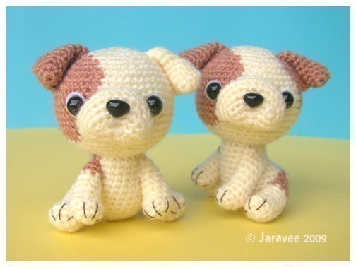 English Bulldog Puppy - PDF Crochet Pattern by jaravee