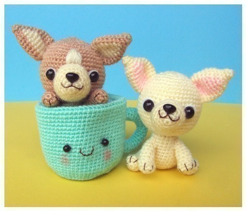 Chihuahua, Tea Cup Puppy - PDF Crochet Pattern by jaravee