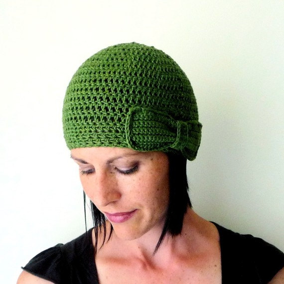 Instant Download Bow Hat Pdf Crochet Pattern Flapper Hat Beanie