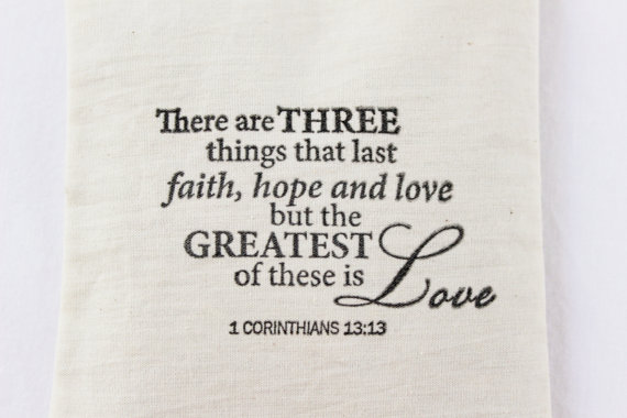 Faith Hope Love Lavender Sachet, 1 Corinthians 13 Bible Verse ...