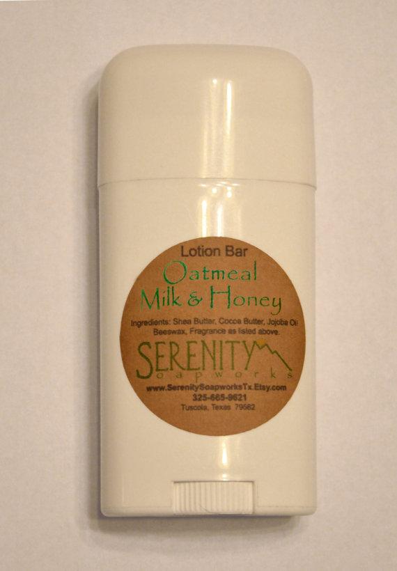 Oatmeal Milk and Honey Lotion Bar Tube by serenitysoapworkstx
