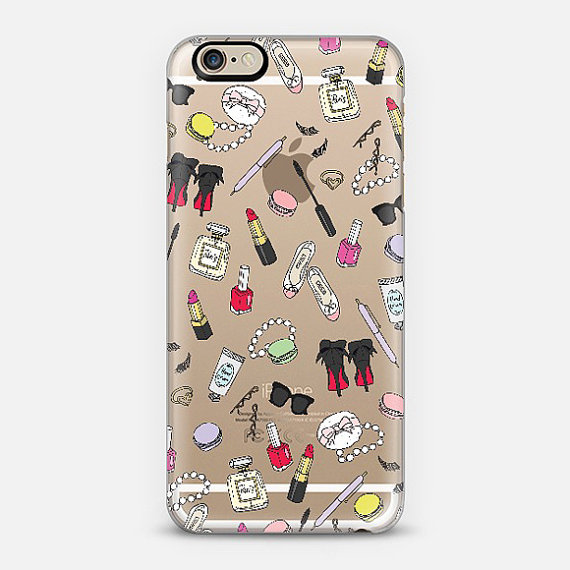 Girly Things Clear Phone Case iPhone 6 / 6S, 6 plus, 5 / 5s by emmakisstina