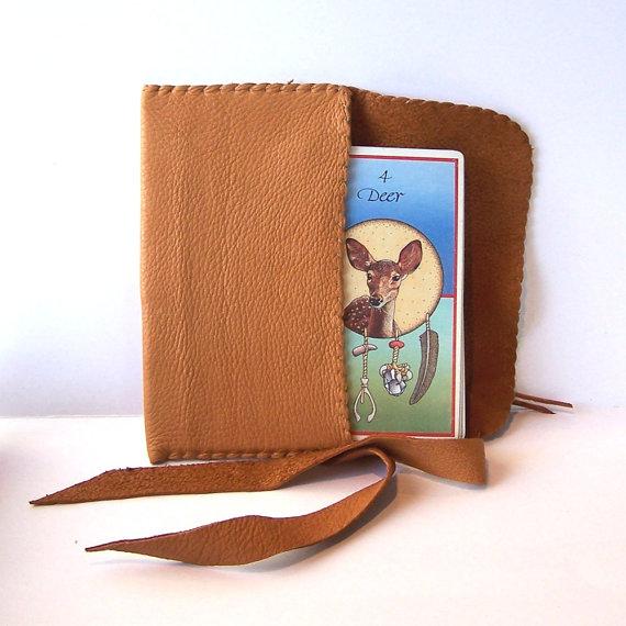 Dusk Leather Tarot Bag..Deer Hide … Smooth by bonesinger