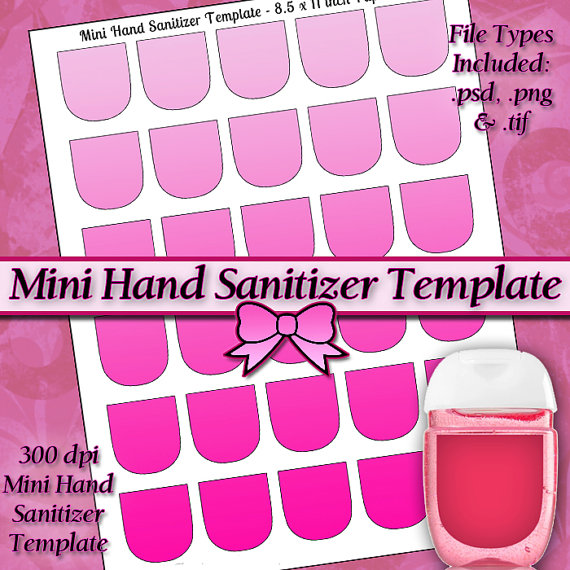 NEW Mini Hand Sanitizer Label DIGITAL Collage Sheet TEMPLATE DiY 8.5x11 Page with Video Tutorial Instructions (Instant Download) by JeweledLizard