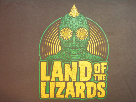 Phish Lizards lot tee shirt - silkscreened original art - Trey, Grateful Dead, hippie, 420, lsd by UncleJohnsOutfitters