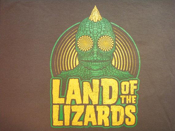 Phish Lizards lot tee shirt – silkscreened original art – Trey, Grateful Dead, hippie, 420, lsd by UncleJohnsOutfitters
