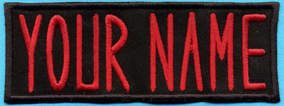 Adult size Custom Ghostbuster 1 style Name Tag Patch - 'YOUR NAME' [iron-on] by Katarra8