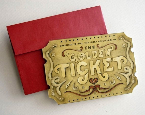 Custom Gift Surprise Card. Golden Ticket Scratch Off - Surprise dad, boyfriend, spouse, girlfriend. & gt; & gt; Read ITEM DETAILS for details! by crankbunny