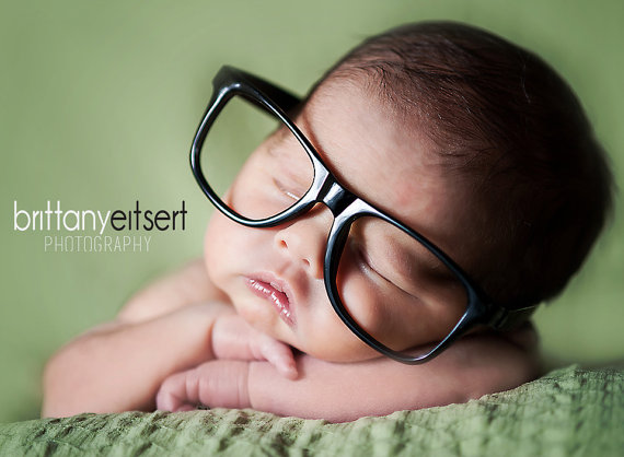 On Sale !! Newborn Infant Baby Toddler Kid Plastic Nerd Glasses Frames Only, No lenses Newborn Photography Prop Limited Time On Sale !!!!!! by YarningToBe