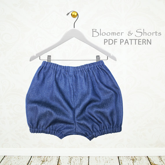 Baby sewing pattern pdf, diaper cover pattern pdf, baby pants pattern, baby bloomer pattern pdf, baby shorts sewing pattern, BABY BLOOMERS by MyChildhoodTreasures