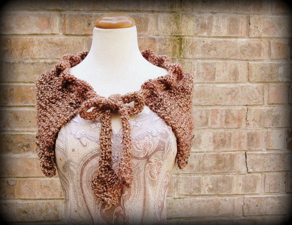 highland capelet. outlander inspired knitting pattern claire's capelet sassenach capelet pdf knitting pattern cape shawl drawstring cowl by KnotOriginal