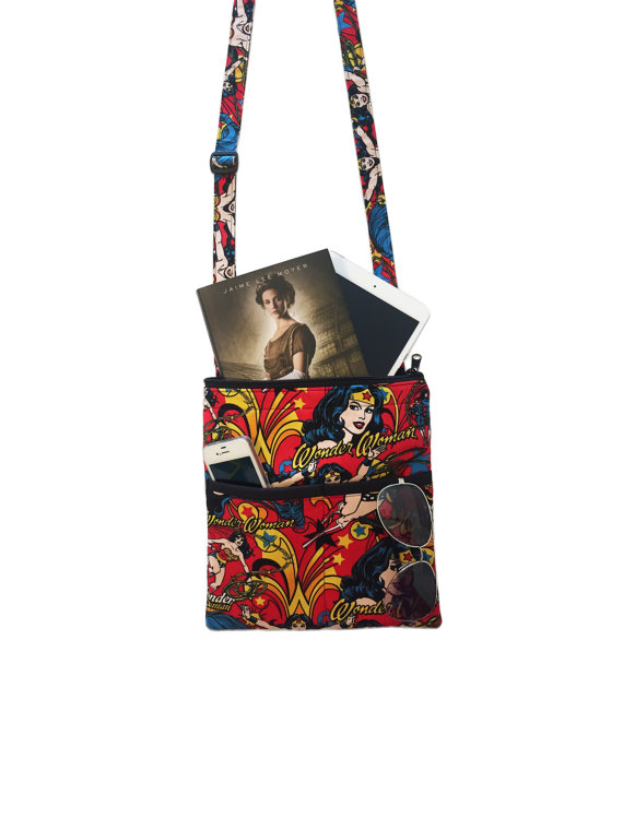 f3bc450fa9 Wonder Woman Crossbody Bag // Sling Bag // Crossbody Purse // DC COMICS