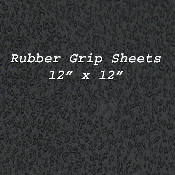 Recycled Rubber Grip Non Slip Black Sheets of 12 by 12 inches, Rubber Soling Sheet Waterproof sole by Woofsdogboots