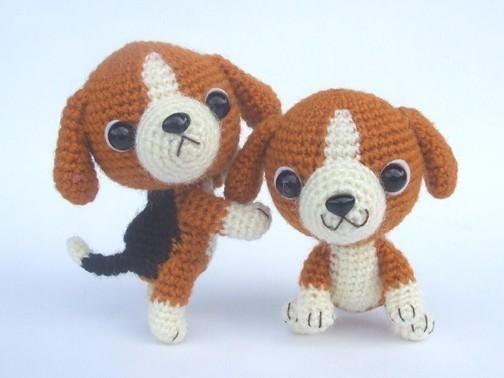 Beagle Puppy - PDF Crochet Pattern by jaravee