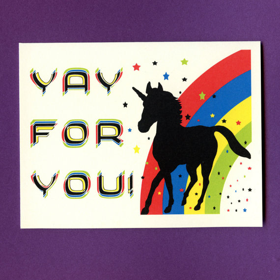 Funny Congratulations Card – YAY FOR YOUNICORN – Congratulations Card – Congratulations – Funny Graduation Card – Graduation Card – Unicorn by seasandpeas
