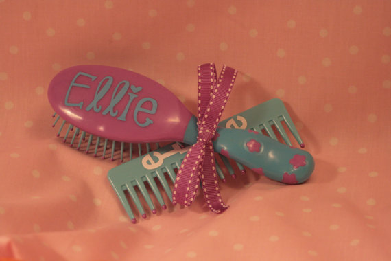 Little Girl Hairbrush / Comb Set - Both Personalized by MarleyintheMiddle