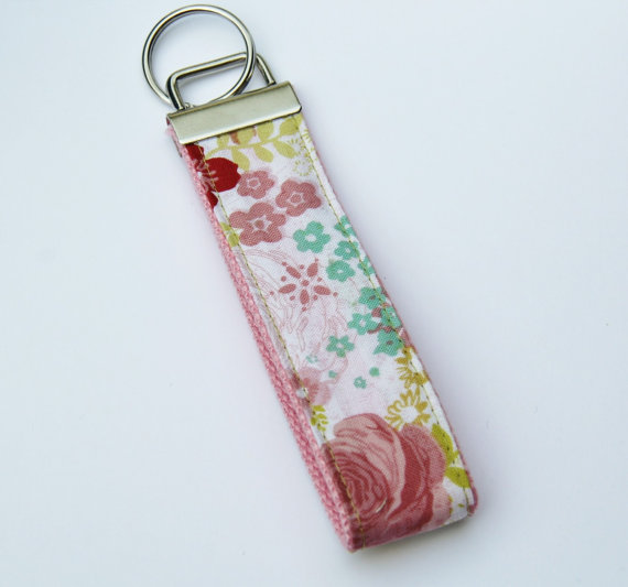 READY TO SHIP Key Fob Wristlet, stylish and unique, key chain by madkenjacks