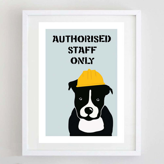 Staffordshire Bull Terrier Print, Staffy Picture, Staffie Print, Dog Art, Dog Poster, Dog Illustration by ForeverFoxed
