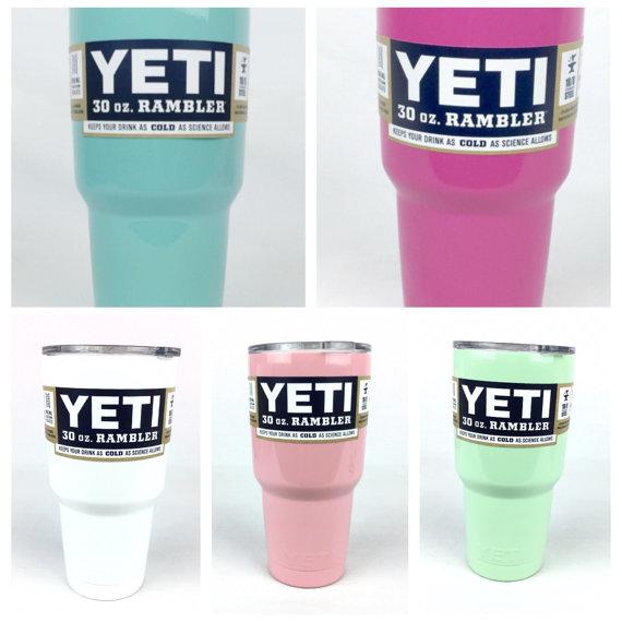 Yeti Rambler * Authentic 30oz * White Yeti / Mint Yeti / Pale Pink Rambler / Pink Rambler / Teal Rambler / Hot or Cold by TheGlitterSquad