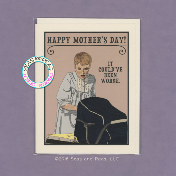 ROSEMARY'S BABY Mother's Day – Funny Mother's Day Card – Rosemary's Baby – Funny Mom Card – Mother's Day Card – Pop Culture Card – Item P030 by seasandpeas