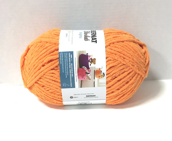 Bernat Blanket Brights Yarn Carrot Orange Large Skein 300 Grams New Home Decor Color by kayscrochetpatterns