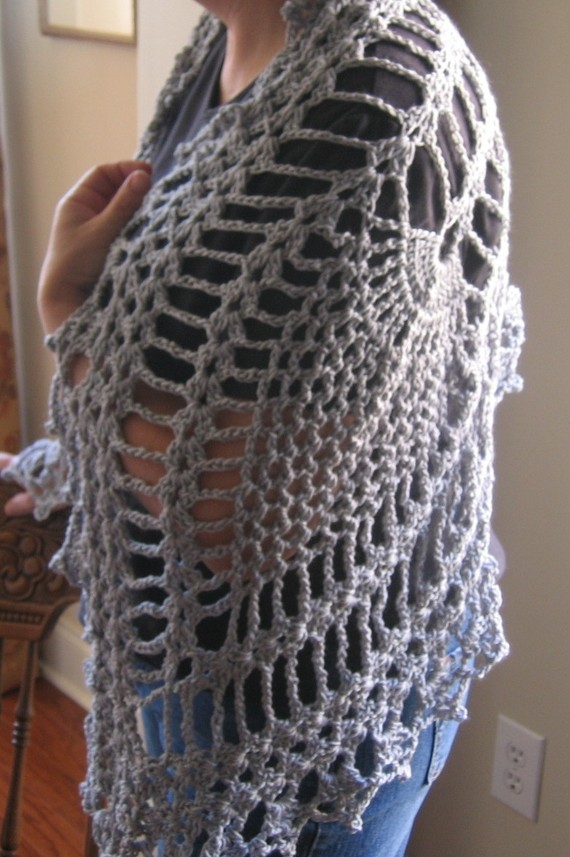 Crochet Pineapple Lace Shawl Pattern by RaggedyAnns