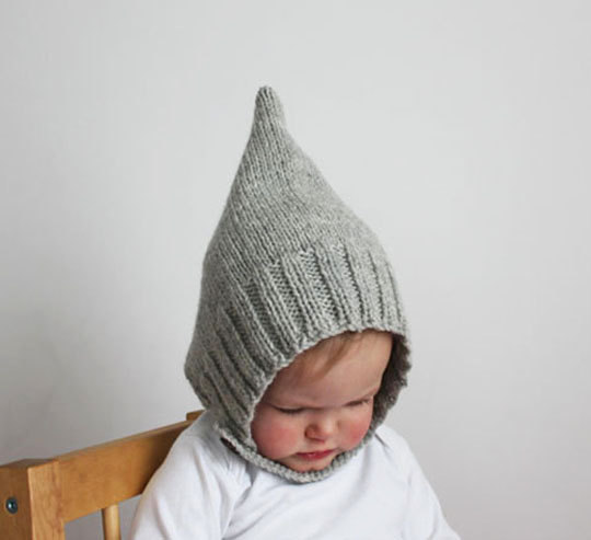 Knitting Pattern PDF - Infant and Toddler Pixie Bonnet Knitting Pattern by sweetKM