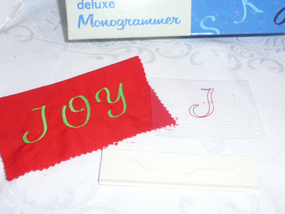 Singer Deluxe Monogrammer Letter J Cam and Placement Guide by yesteryearshome