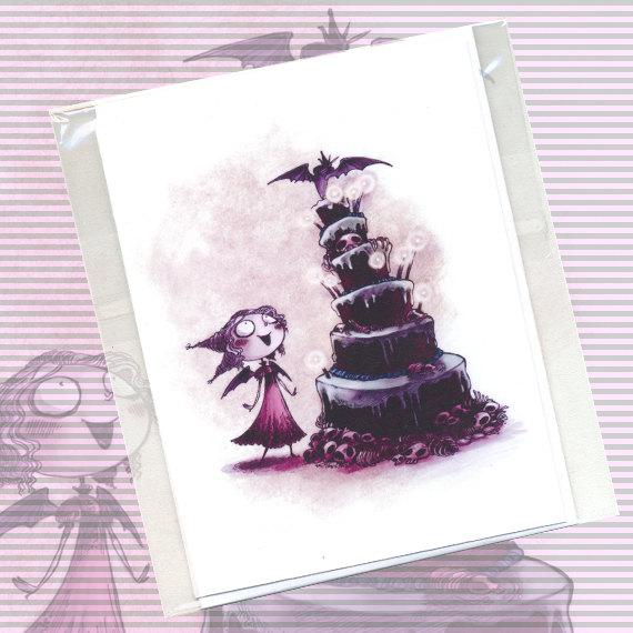 Happy Birthday Batty – Cute Macabre Birthday Card (Blank) by moonlightwhispers