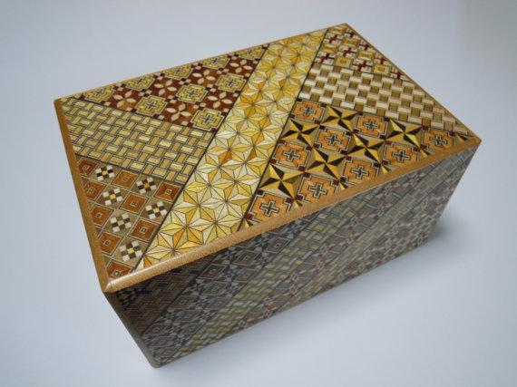 Japanese Puzzle box (Himitsu bako) - 7sun (210mm / 8.2inch) 12 steps Yosegi by tomomaru