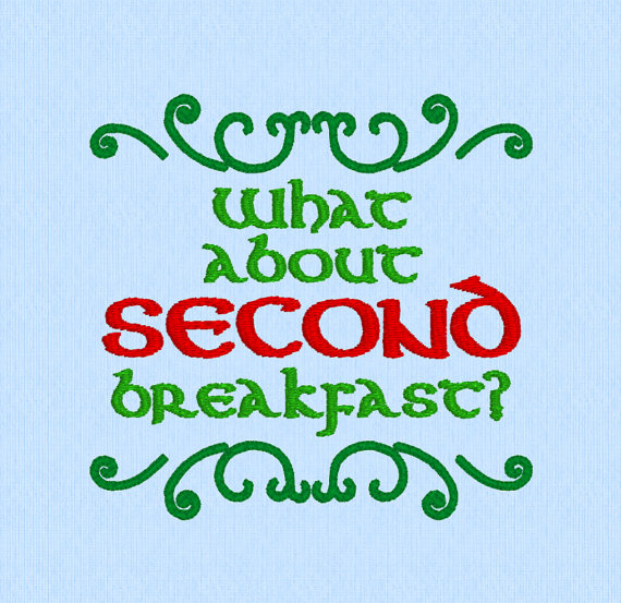 What about SECOND breakfast? - Lord of the Rings (LOTR) Machine Embroidery Design File by lynellen