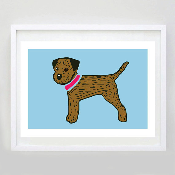 Border Terrier Print – Border Terrier Art – Border Terrier Gift – Dog Art – Dog Picture – Dog Poster – Pet Lover Gift – Free UK Delivery by ForeverFoxed
