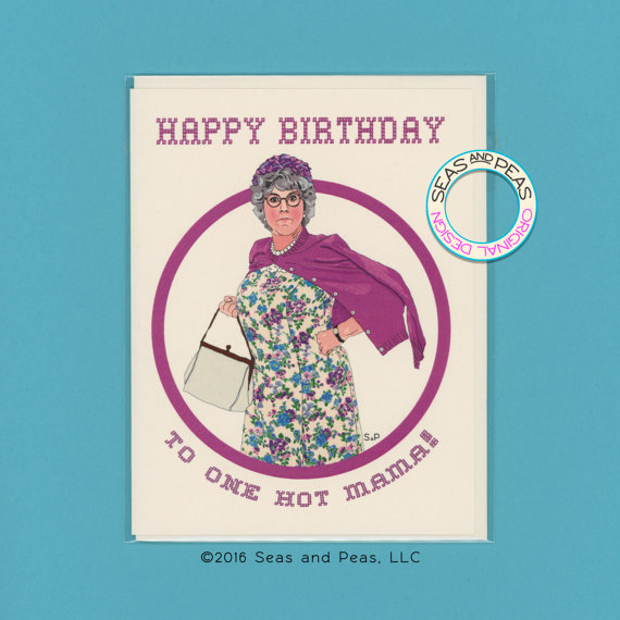 74736e1bd7 MAMA'S FAMILY Birthday Card - Funny Birthday - Mama's Family - Vicki  Lawrence - Thelma Harper