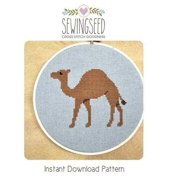 Camel Cross Stitch Pattern Instant Download by Sewingseed