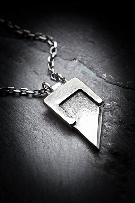 HEADS WILL ROLL guillotine blade necklace by missyindustry