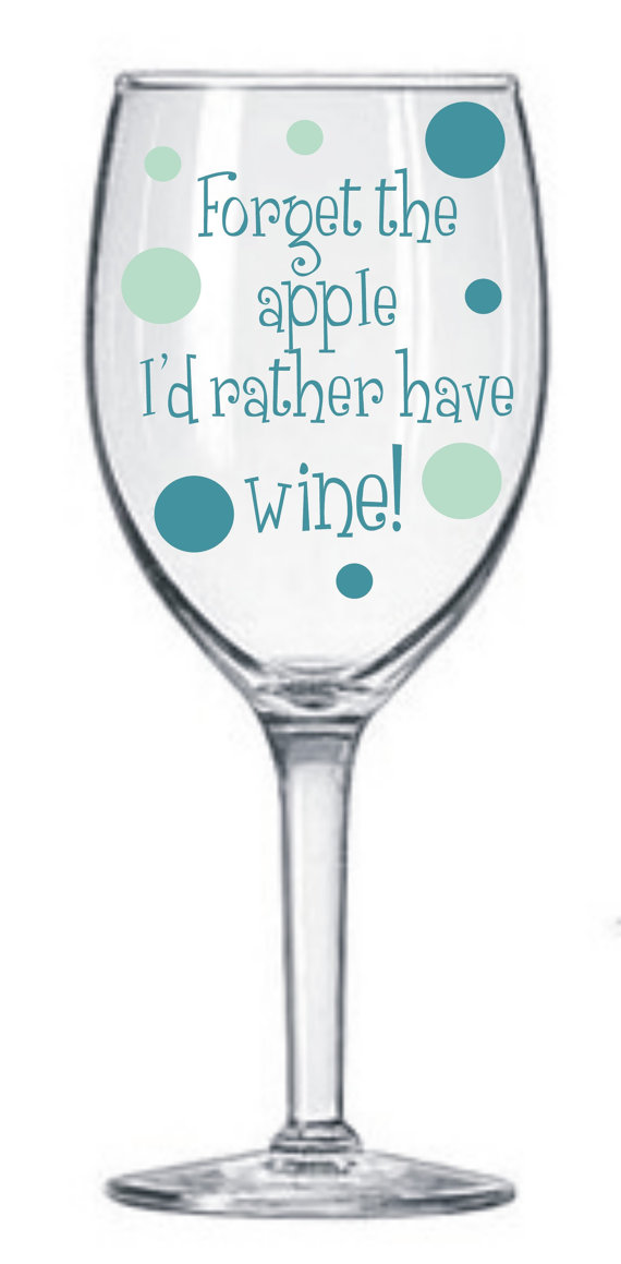 2 Teacher Decals for Wine Glasses DIY kit * Teacher * School* GNO * Vinyl Decals * Easy and Fun * Teacher Gift * Holiday * I teach I drink * by MUTShop