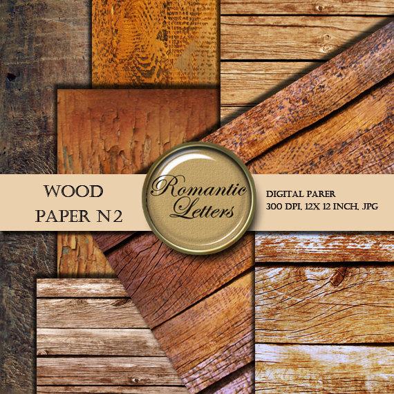 Digital Paper Wood Texture Backgrounds Digital Scrapbook